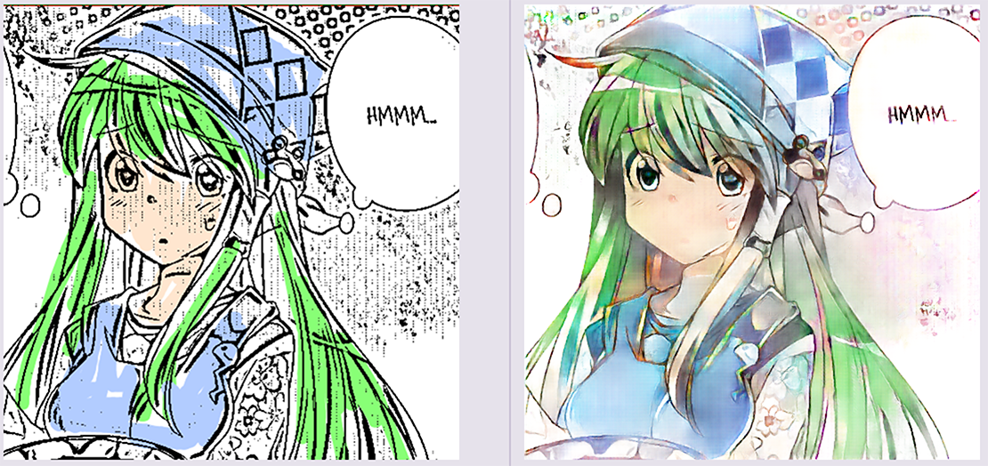 Deepcolor: automatic coloring and shading of manga-style lineart